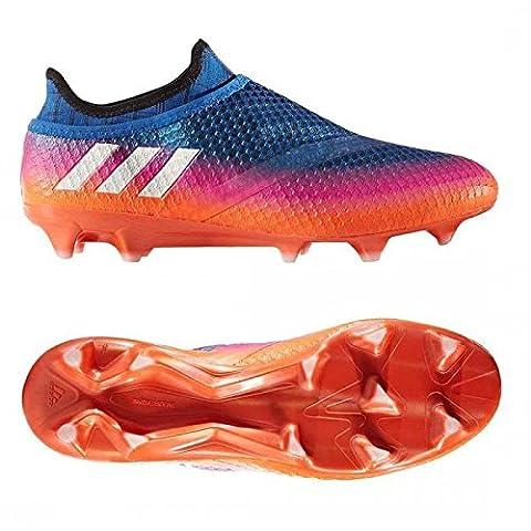 Messi 16+ Pure Agility FG - Crampons de Foot - Bleu/Blanc/Orange Solaire - taille 43.3