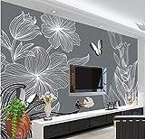 fototapete 3d effekt wand dekoration vlies Fototapete Design Tapete moderne wanddeko bilder Wandbilder wohnzimmer 200x140cm Hand gezeichneter Blumenschmetterling