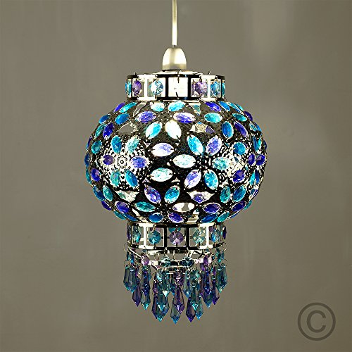 Traditional Moroccan Bazaar Style Chrome Plated Chandelier