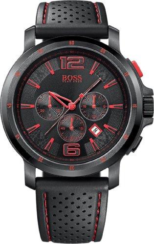 Hugo Boss Herren Chronograph Quarz Uhr mit Kautschuk Armband 1512597