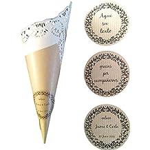 40 Cucurucho personalizados para detalles de boda