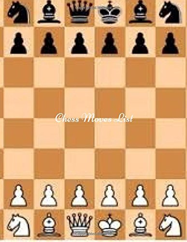 Chess Moves List: Large Blank Chess Log