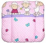 Baby Auflage Wickelauflage - Schaf rosa/violet - 70x50 cm 70x70 cm 70x85 cm Wickeltischauflage 70x85 cm