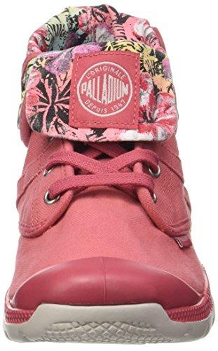 Palladium Damen Palavil Bgy C W Hohe Sneaker, Grau Pink (Garnet Rose/w Ch/hawai Pt)