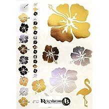 Très Beaux Tatouages Temporaires Métalliques (Fleurs hawaïennes) de Royal Rebel