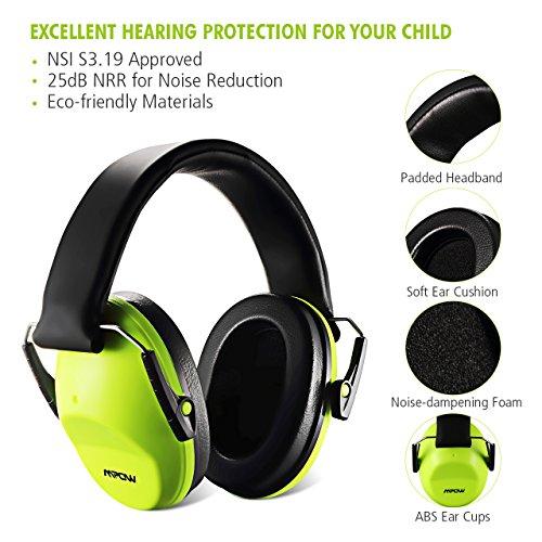 0ef7475eb9235 Mpow Casque Anti-bruit Enfant Adulte Pliable avec Sac de Transport ...