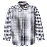 Almsach Trachtenhemd Flori für Kinder mehrfarbig in Blau und Dunkelgrün inklusive Volksfestfinder, Farbe:Mehrfarbig, Größe:140/146
