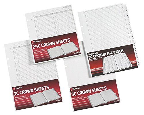 Twinlock 3C Crown zweispaltige Kontoblätter 100 Stück