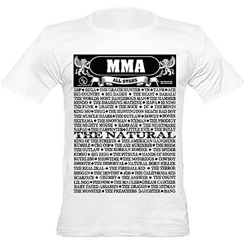 Shaolin urbana para hombre de MMA, UFC Apodo todas las estrellas de cuello redondo T cabido camiseta,