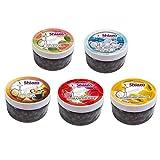 DXP Shiazo Assortiment de 5/12 variétés de pierres à vapeur pour shisha chicha narguilé, sans nicotine substitut au tabac