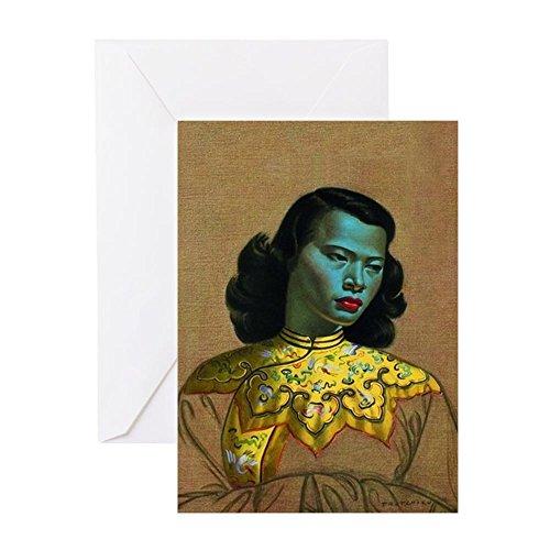 CafePress–Wladimir 'Tasse mit Tretchikoff–Das chinesische Girl–Die Gree–Grußkarte, Note Karte, Geburtstagskarte, innen blanko, glänzend