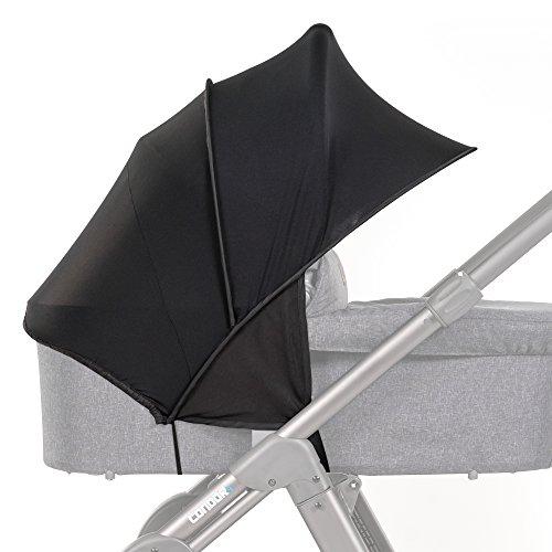 Universal Sonnensegel / Sonnendach, Sonnenverdeck, Sonnenschutz mit UV-Schutz 50 Plus - für Kinderwagen und Buggy / praktische Sonnenschirm Alternative