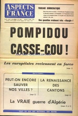 ASPECTS DE LA FRANCE [No 1228] du 06/04/1972