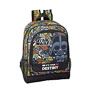 510oVHVQ0TL. SS300  - Star Wars Galaxy Oficial Mochila Escolar 320x140x420mm