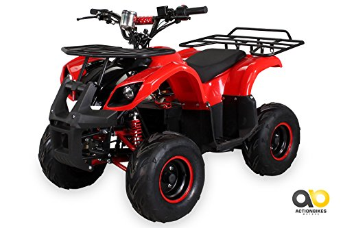 Kinder Elektro Quad S-8 Farmer 1000 Watt Miniquad (Rot/Schwarz)