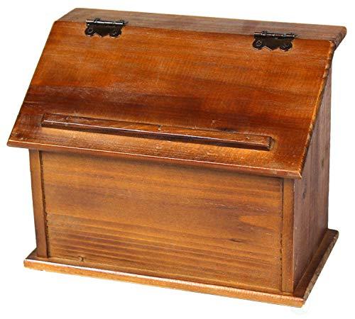 Vintiquewise Old Style Holz Podium Rezept Box, braun
