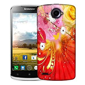 Snoogg fantasy flowers background Designer Protective Back Case Cover For Lenovo S920