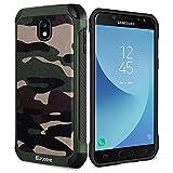 Epxee Samsung Galaxy J5 2017 Hülle, Premium Outdoor Stoßfest Schutzhülle Silikon TPU Bumper Case Handyhülle für Samsung Galaxy J5 DUOS Case - Camouflage