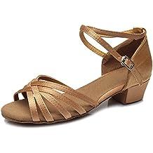 SWDZM Donna Scarpe da ballo/Scarpe da ballo latino standard Raso Ballroom Model-IT-202