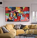 Empire Merchandising Poster de film moderne sur toile colorée Impression HD pour salle à manger Motif Rocky vs Apollo, Rocky Vs Apollo, 32x48inch(80x120cm)