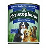 6 x Allco Christopherus Älterer Hund Lamm, Kartoffeln & Karotten 800 g, Hundefutter, Nassfutter