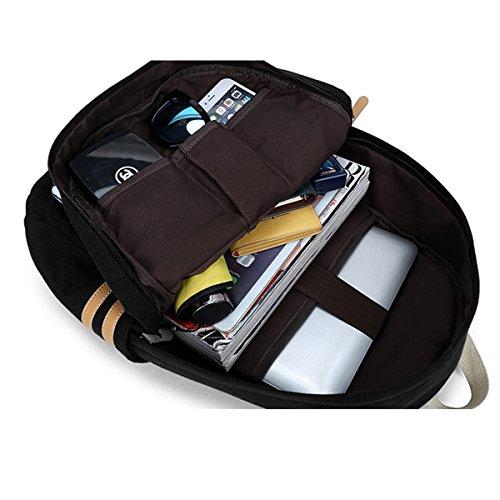 Imagen de ambielly estilo  escolares espesado bolsa de mano hombro del ordenador portátil  bolso causal  escolar negro 1  alternativa