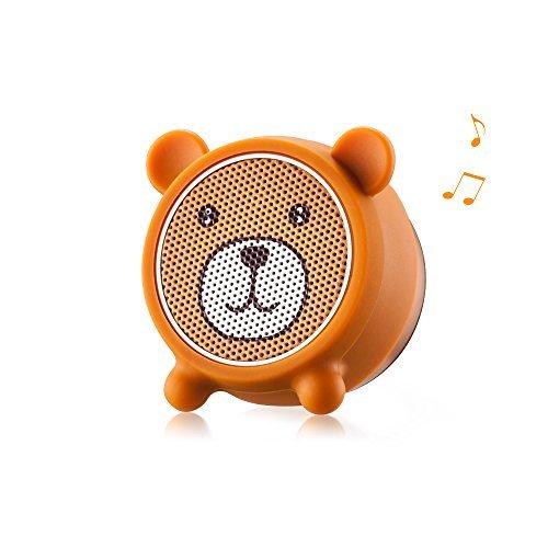 Kühlschrank Mädchen Reise (Mini Bluetooth Lautsprecher, AURTEC tragbare drahtlose mit süßen Tiere und Outdoor-Stereo-Audio mit exzellentem Sound und starkem Bass, Remote Selfie Funktion, Bluetooth 4.2, Freisprechanlagen, Bär)