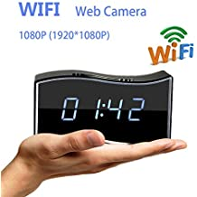 Mengshen® 1080P HD mini cámara de WiFi del IP sin hilos ocultada cámara del reloj de tiempo real de audio y vídeo grabadora de vídeo Soporte Android iPhone APP vista remota 160 ° de la lente para la seguridad casera MS-WH21