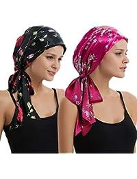 EINSKEY Turbantes para Mujer, 2PCs Pañuelos Cabeza Delgado de Verano para Cancer, Oncologicos, Pérdida de Cabello
