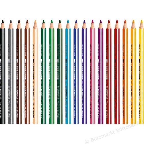 Stabilo 203/385 Farbstifte, Uws und Trockenmarker Einzelfarben Farbstift Trio dick blau/violett