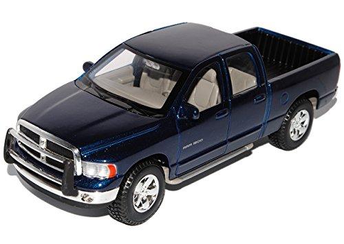 Dodge-Ram-Quad-Cab-Blau-Pick-up-2002-2009-127-124-Maisto-Modell-Auto-mit-oder-ohne-individiuellem-Wunschkennzeichen