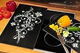 PREMIUM Herdabdeckplatte 1-tlg. Set schwarz, Herdabdeckung + Spritzschutz Glas, Herdblende,Herdabdeckplatten für Elektroherd mit Ceran,Ceranfeld,Induktion Kochfeld - auch als Schneidebrett Maße viereckig je ca. 52 cm x 30 cm x 0,8 cm - Herdplatten Abdeckung Schneidbretter Glaskeramik Kochfelder Kochplatten, Herdset einzeln doppel doppelt rund, Kinderschutz für Herdfeld Herdglas Ofen Backofen, Herdzubehör, Kochfeldplatten gross