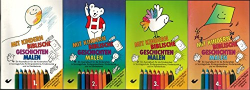 Mit Kindern biblische Geschichten malen (Band 1-4) - Ausmalbücher für die Kinderarbeit in...