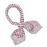 SXON Petit Foulard Fichu à Pois Coloré Polyester Pratique Classique Femme Accessoire (Rose)