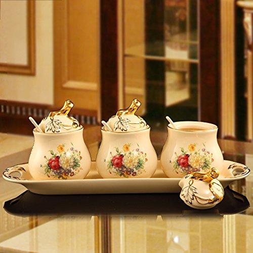 XCF WLQ Seasoning Jar Set - Utensilios de Cocina de cerámica Europeos...