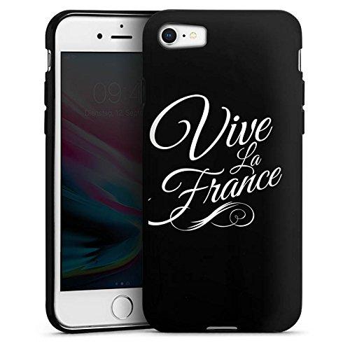 Apple iPhone 8 Silikon Hülle Case Schutzhülle Vive la France ohne Hintergrund Frankreich Silikon Case schwarz