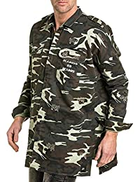 Sixth June - Surchemise camouflage homme oversize coupe extra large