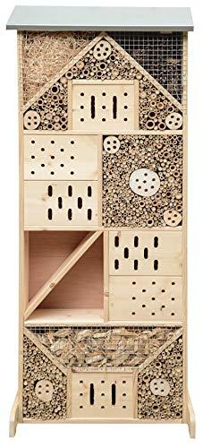 Gardigo Insektenhotel XXXL I Insektenhaus 120 cm groß aus Holz I Nistkasten für Wildbienen, Florfliegen, Marienkäfer und Schmetterlinge I Gefüllt mit Naturmaterialien wie Bambus
