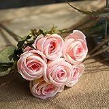 Bescita artificiali fiori di seta Roses composizioni floreali casa fai da te pavimento giardino ufficio decorazione di nozze bouquet da sposa