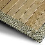 casa pura Bambusteppich Marigold | für Bad und Wohnzimmer | natürlich wohnen Bambus | Bambusmatte in vielen Größen (90x120 cm)
