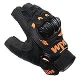 #3: All Extreme Bike Riding Half Finger KTM Gloves (Set of 1) Black ( Large )