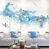 3D Papier Peint Non Tissé Encre De Chine Moderne Peinture Paysage Papier Peint Tv Fond Mur Papier Vidéo Mur Murale Sans Couture Murale Personnalisé Chiffon Mural, 250 Cm * 175 Cm