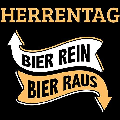 Herrentag - Bier rein, Bier raus - Herren T-Shirt von Fashionalarm | Fun Shirt Spruch Spaß Vatertag Christi Himmelfahrt Bier Alkohol Party Feiern Trinken Saufen Geschenk Schwarz