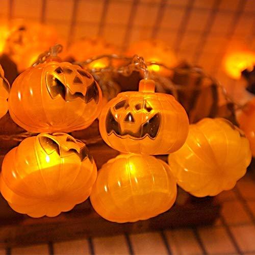 XFGBTJKYUT Neue 2,5 m Kürbis Design Gelb Licht Halloween Serie LED String Licht, 20 LEDs 3 x AA Batterien Box Betrieben Partei Requisiten Fee Dekoration Nachtlampe