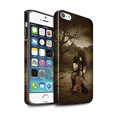 Officiel Elena Dudina Coque / Matte Robuste Antichoc Etui pour Apple iPhone 5/5S / Abandonné Design / Réconfort Musique Collection Abandonné