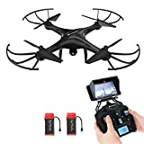 Drone with HD Camera, AMZtronics A15W Wireless FPV 2.4Ghz RC Quadcopter RTF Altitude Hold UFO with Newest Hover and 3D Flips Function, (TF Card & Card Reader Included)