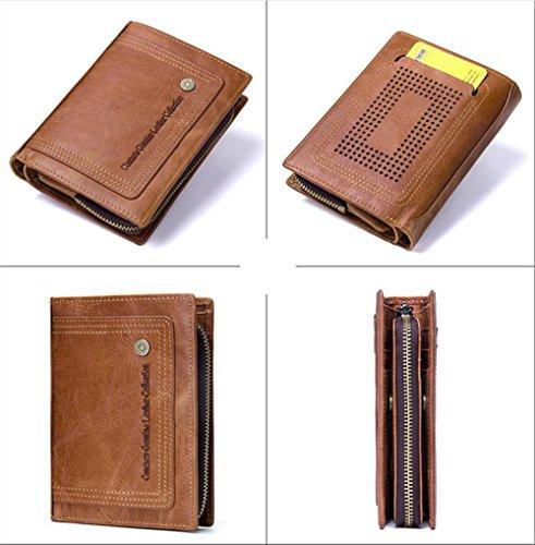 Brieftasche Bifold Multi Kartenhalter Geldtasche Geldbörse Mit Abnehmbarer Tasche ()