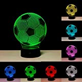 ADDCORE Optical Illusion 3D Football Lamp - Calcio Lampada