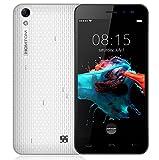 Homtom HT16 - Android 6.0 3G 5.0 Zoll Smartphone MTK6580 Viererkabel-Kern 1.3GHz 1GB RAM 8GB Doppel-SIM 3000mA Batterie - Weiß