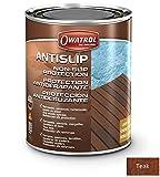Owatrol Antislip Imprägnierung Holzöl Anti-Rutsch Öl Holzschutz Antigliss (1 Liter, Teak)